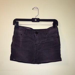 Denim-like mini skirt